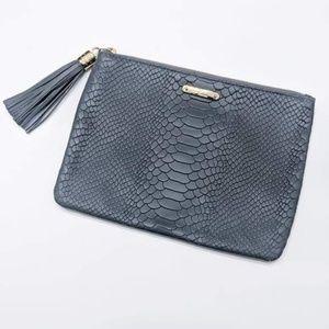 GiGi New York All In One Leather Tassel Clutch Bag